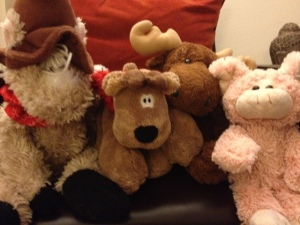 From left: Horsie, Rodney, Milty and Piggy